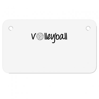 Volleyball Motorcycle License Plate Designed By Hoainv