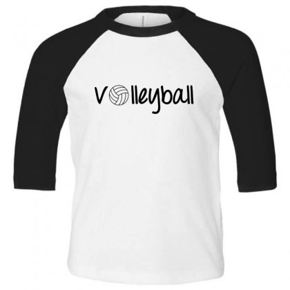 Volleyball Toddler 3/4 Sleeve Tee Designed By Hoainv