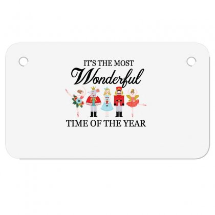 Ballet Christmas Time Motorcycle License Plate Designed By Hoainv