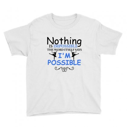Ballet Dance I'm Possible Youth Tee Designed By Hoainv