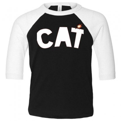 Cat Toddler 3/4 Sleeve Tee Designed By Chams