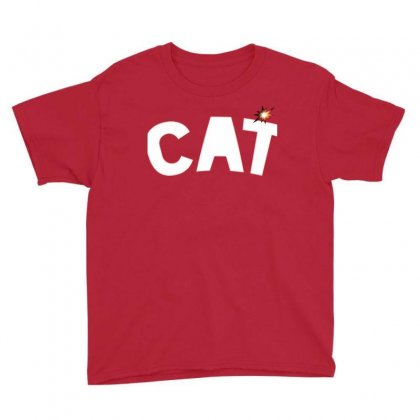 Cat Youth Tee Designed By Chams