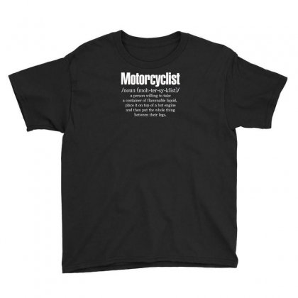 Motorcyclist Youth Tee Designed By F4j4r