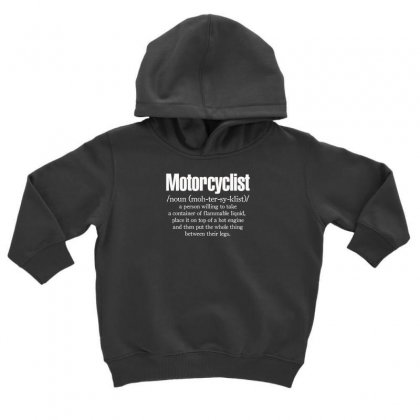 Motorcyclist Toddler Hoodie Designed By F4j4r