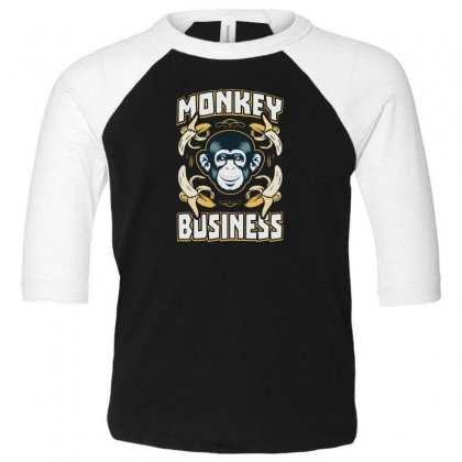 Monkey Business Toddler 3/4 Sleeve Tee Designed By F4j4r