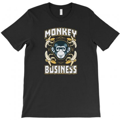 Monkey Business T-shirt Designed By F4j4r