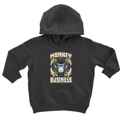 Monkey Business Toddler Hoodie Designed By F4j4r