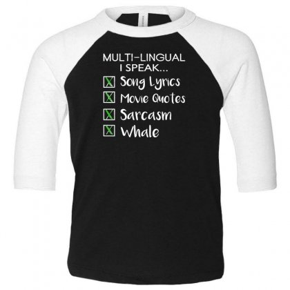 Multi Lingual Toddler 3/4 Sleeve Tee Designed By F4j4r