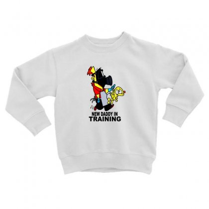 New Daddy Toddler Sweatshirt Designed By F4j4r