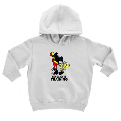 New Daddy Toddler Hoodie Designed By F4j4r