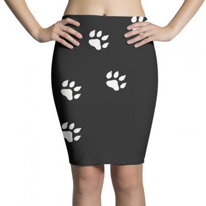 Paw Prints Pencil Skirts Designed By F4j4r