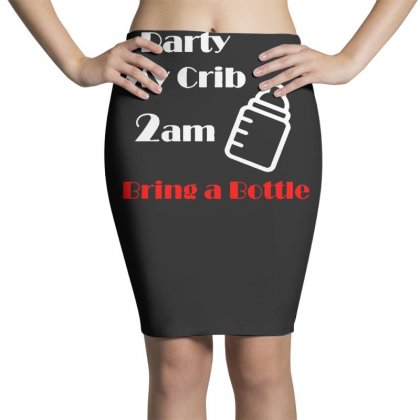 Party At My Crib 2am Pencil Skirts Designed By F4j4r
