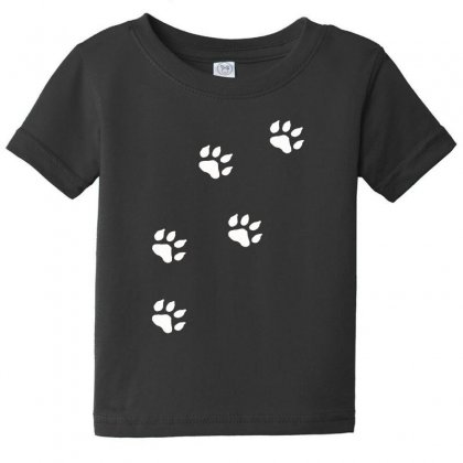 Paw Prints Baby Tee Designed By F4j4r