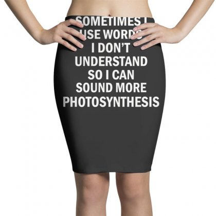Photosynthesis Pencil Skirts Designed By F4j4r