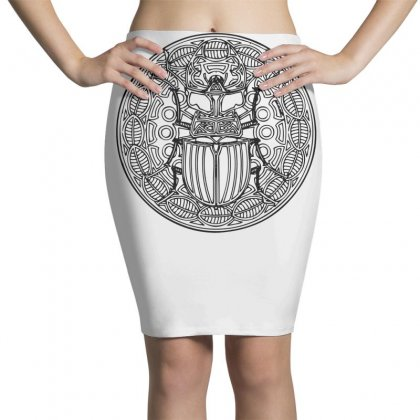 HirschkÄfer Stag Beetle Mandala Scarabeus Insekt Insect Bug Pencil Skirts Designed By Teeshop