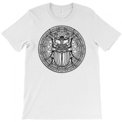HirschkÄfer Stag Beetle Mandala Scarabeus Insekt Insect Bug T-shirt Designed By Teeshop