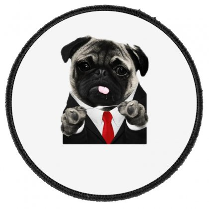 Hit Pug Round Patch Designed By Teeshop