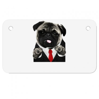 Hit Pug Motorcycle License Plate Designed By Teeshop