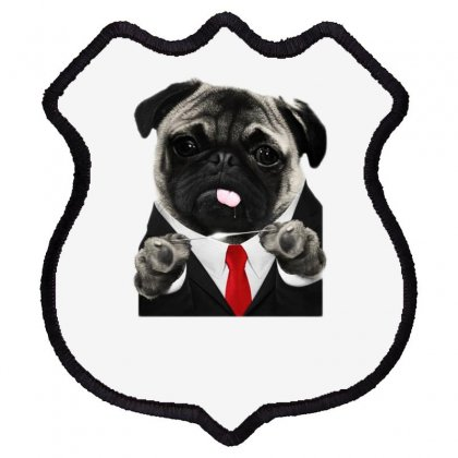 Hit Pug Shield Patch Designed By Teeshop