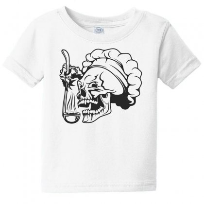 Chef Skull T Shirt Baby Tee Designed By Dinugraha