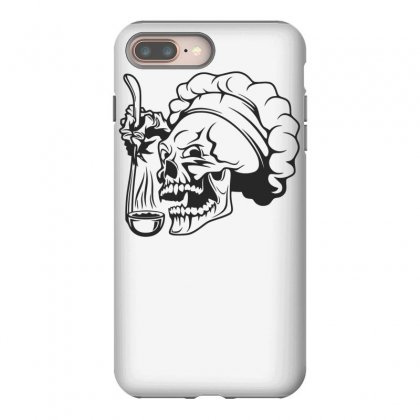 Chef Skull T Shirt Iphone 8 Plus Case Designed By Dinugraha