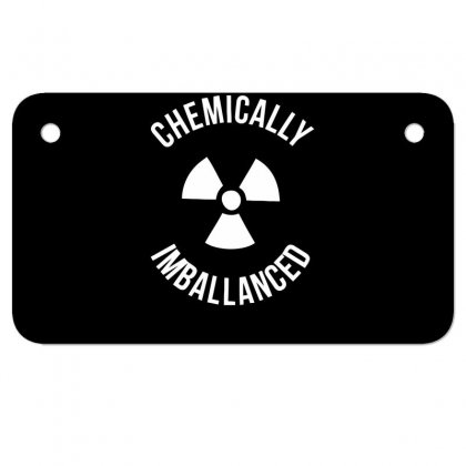 Chemically Imballanced Motorcycle License Plate Designed By Dinugraha
