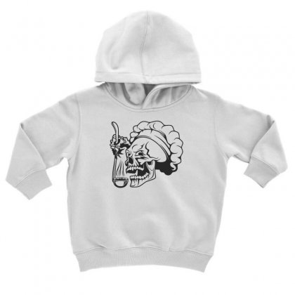Chef Skull T Shirt Toddler Hoodie Designed By Dinugraha