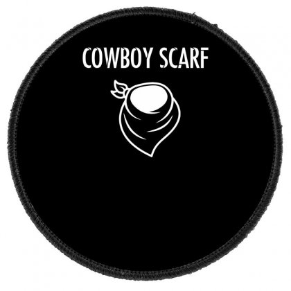 Cowboy Scarf Round Patch Designed By Dinugraha