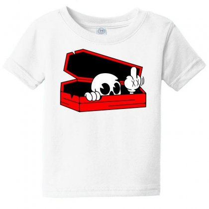 Died Skull Box Funny Baby Tee Designed By Dinugraha