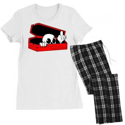 Died Skull Box Funny Women's Pajamas Set Designed By Dinugraha