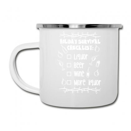 Holiday Survival Checklist Camper Cup Designed By Teeshop
