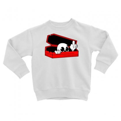 Died Skull Box Funny Toddler Sweatshirt Designed By Dinugraha