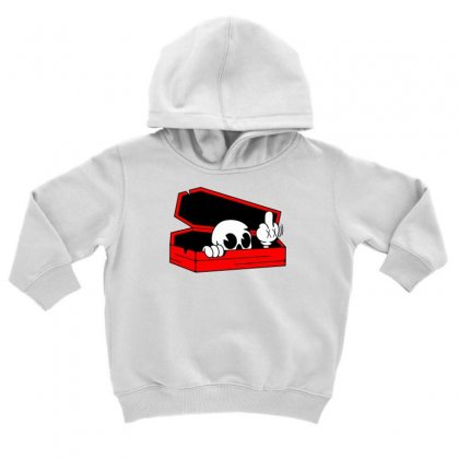 Died Skull Box Funny Toddler Hoodie Designed By Dinugraha