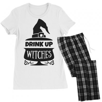 Drink Up Witches Women's Pajamas Set Designed By Dinugraha
