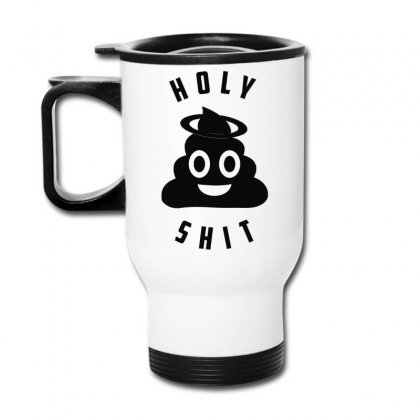 Holy Shit Emoji Travel Mug Designed By Teeshop
