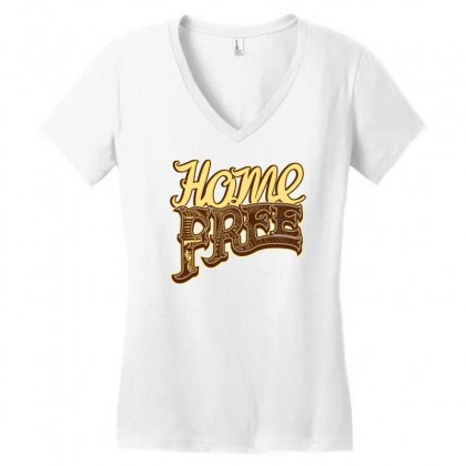 Home Free Vocal Band A Capella Country Group Women's V-neck T-shirt Designed By Teeshop