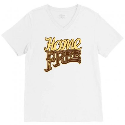 Home Free Vocal Band A Capella Country Group V-neck Tee Designed By Teeshop