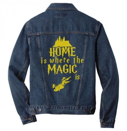 Home Is Where The Magic Is Men Denim Jacket Designed By Teeshop