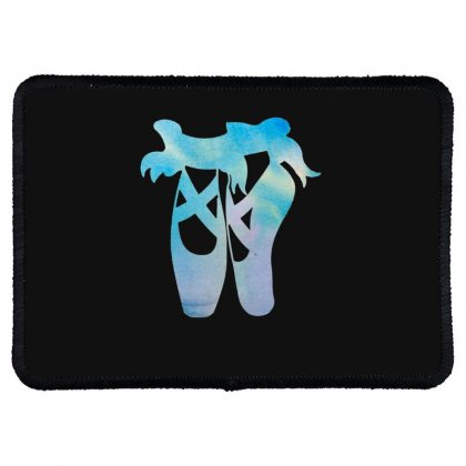 Ballet Watercolor Ballerina Dance Pointe Shoes Rectangle Patch Designed By Hoainv
