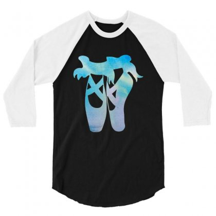 Ballet Watercolor Ballerina Dance Pointe Shoes 3/4 Sleeve Shirt Designed By Hoainv
