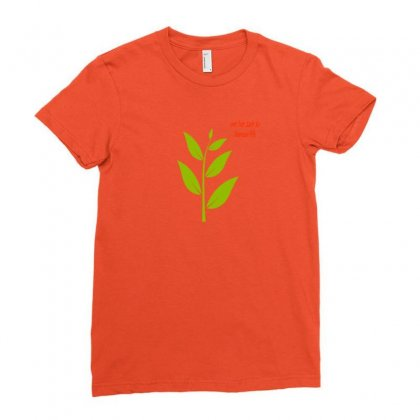 Nature Atmosphere Natural Green Leafy Cloth T Shirt Accessories Ladies Fitted T-shirt Designed By Artist1