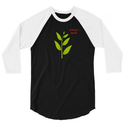 Nature Atmosphere Natural Green Leafy Cloth T Shirt Accessories 3/4 Sleeve Shirt Designed By Artist1