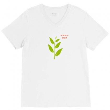 Nature Atmosphere Natural Green Leafy Cloth T Shirt Accessories V-neck Tee Designed By Artist1