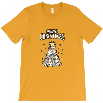 Meowy Christmas T-shirt Designed By Kartikasari