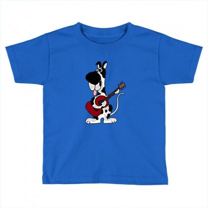 Hilarious Harlequin Great Dane Playing Guitar Toddler T-shirt Designed By Wd650