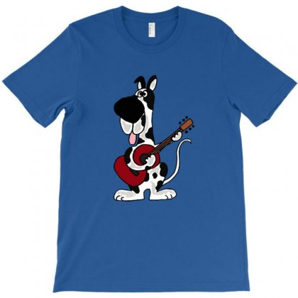 Hilarious Harlequin Great Dane Playing Guitar T-shirt Designed By Wd650