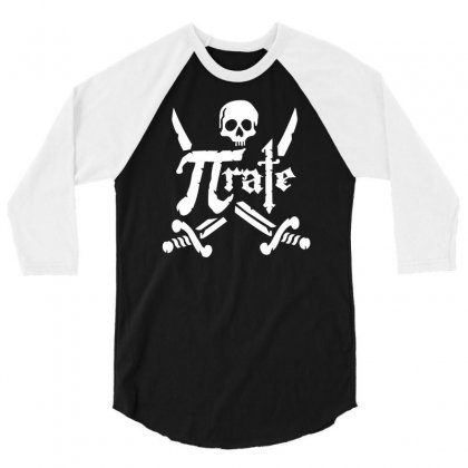 Pi Rate Skull 3/4 Sleeve Shirt Designed By Dinugraha