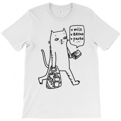 Shopping Cat Funny T-shirt Designed By Dinugraha