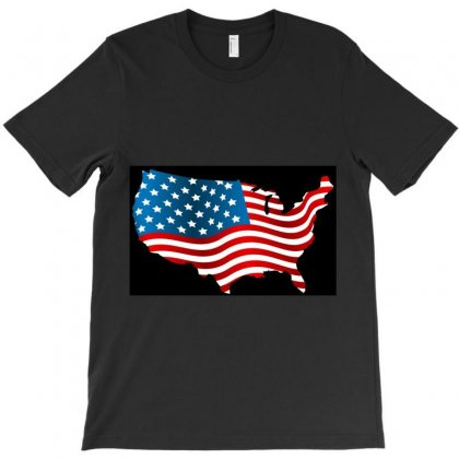 Usa Map United State Of America T-shirt Designed By Danz Blackbirdz