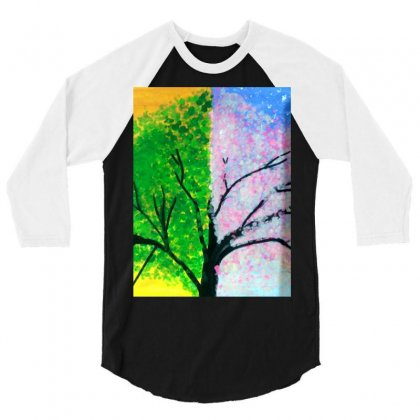 Tree Time Span 3/4 Sleeve Shirt Designed By Arzoo